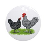 Marans Rooster and Hen Ornament (Round)