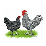 Marans Rooster and Hen Small Poster