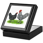 Marans Rooster and Hen Keepsake Box