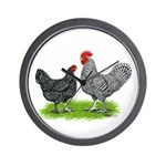 Marans Rooster and Hen Wall Clock