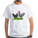 Marans Rooster and Hen White T-Shirt