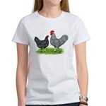 Marans Rooster and Hen Women's T-Shirt