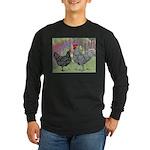 Marans Chickens Long Sleeve Dark T-Shirt