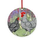 Marans Chickens Ornament (Round)