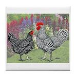 Marans Chickens Tile Coaster