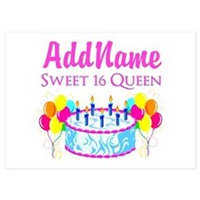 SWEET 16 QUEEN Invitations