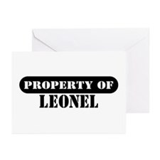 Property of Leonel Greeting Cards (Pk of 10)