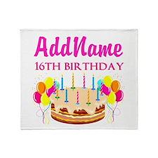 16TH BIRTHDAY Throw Blanket