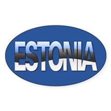 """Estonia Bubble Letters"" Oval Decal"