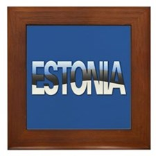 """Estonia Bubble Letters"" Framed Tile"