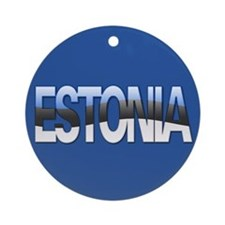 """Estonia Bubble Letters"" Ornament (Round)"