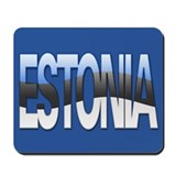 """Estonia Bubble Letters"" Mousepad"