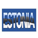"""Estonia Bubble Letters"" Postcards (Package of 8)"