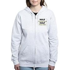 Half Swimming Coach Half Rock Star Zip Hoodie