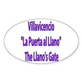 Villavicencio Colombia Oval Stickers