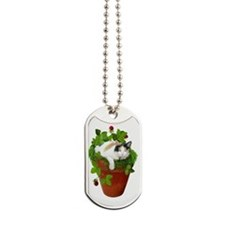 Flowerpot Cat Dog Tags