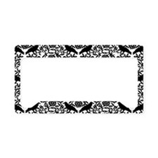 Raven Pattern License Plate Holder