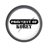Property of Korey Wall Clock