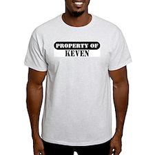 Property of Keven Ash Grey T-Shirt