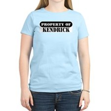 Property of Kendrick Women's Pink T-Shirt