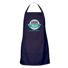 1935 Birthday Vintage Chrome Apron (dark)