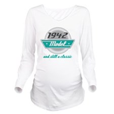 1942 Birthday Vintage Chrome Long Sleeve Maternity