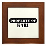 Property of Karl Framed Tile