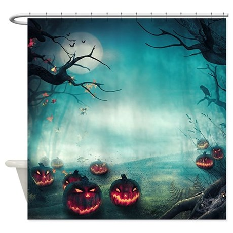 Halloween Forest Shower Curtain By BestShowerCurtains
