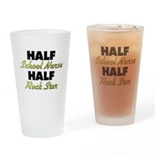 Half School Nurse Half Rock Star Drinking Glass