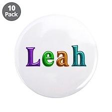 Leah Shiny Colors Big Button 10 Pack