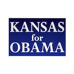 Kansas for Obama Rectangle Magnet