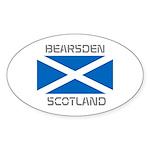 Bearsden Scotland Sticker (Oval 10 pk)