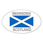Bearsden Scotland Sticker (Oval 50 pk)
