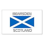 Bearsden Scotland Sticker (Rectangle 50 pk)