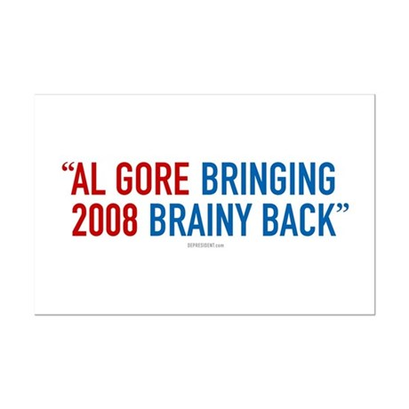 Al Gore - Bringing Brainy Back Mini Poster Print