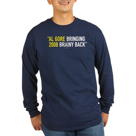 Bringing Brainy Back Long Sleeve Navy T-Shirt