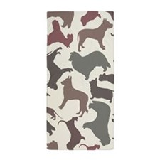Dog Breeds Pattern Beach Towel