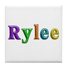 Rylee Shiny Colors Tile Coaster