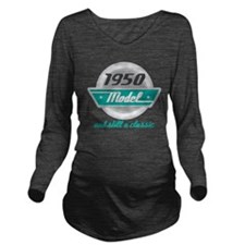 1950 Birthday Vintage Chrome Long Sleeve Maternity