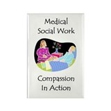 Medical Social Work Rectangle Magnet