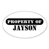 Property of Jayson Oval Decal