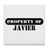 Property of Javier Tile Coaster