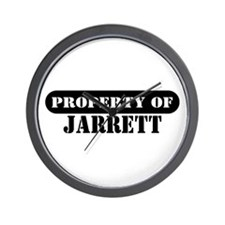 Property of Jarrett Wall Clock