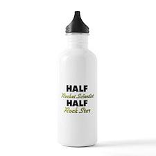 Half Rocket Scientist Half Rock Star Water Bottle