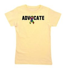 Awareness tee advocate Autism white.png Girl's Tee