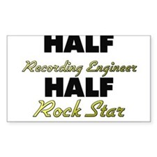 Half Recording Engineer Half Rock Star Decal