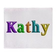 Kathy Shiny Colors Throw Blanket