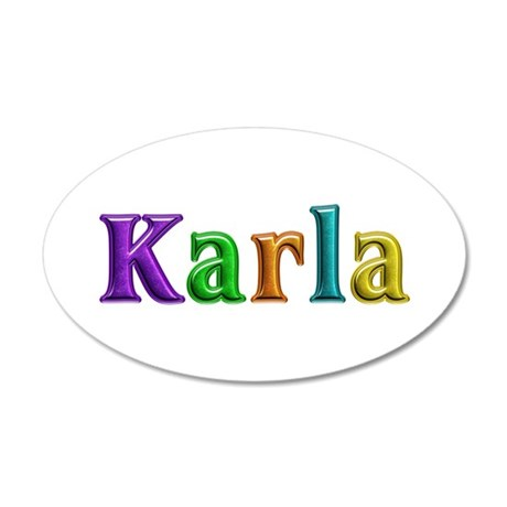 Karla Shiny Colors 20x12 Oval Wall Decal