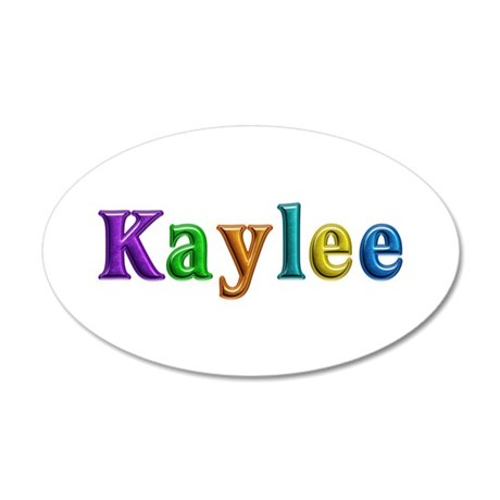 Kaylee Shiny Colors 35x21 Oval Wall Decal