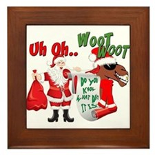 Uh Oh Hump Day Christmas Framed Tile